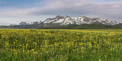 Photograph - Sawtooth Range Panorama by Aaron Spong
