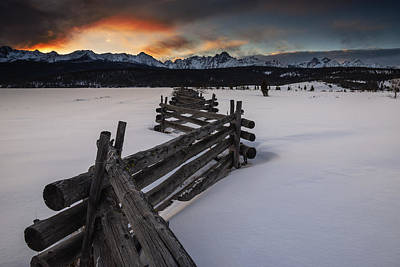 Photograph - Sawtooth Stanley Sunset In Winter by Vishwanath Bhat