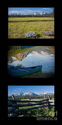 Photograph - Sawtooth Trio by Idaho Scenic Images Linda Lantzy