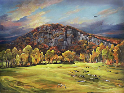 Painting - Sawyers Mountain by Nancy Griswold