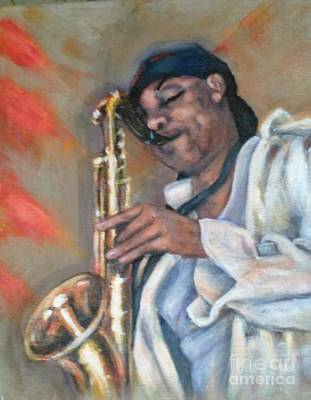 Painting - Sax And Linen by Beverly Boulet