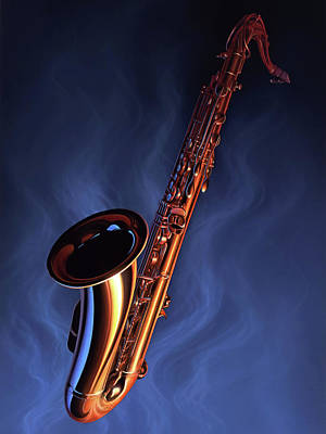 Saxophone Painting - Sax Appeal by Jerry LoFaro
