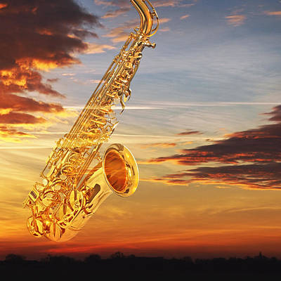 Photograph - Sax At Sunset by Gill Billington
