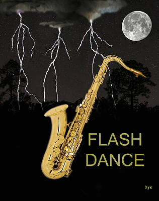 Sax Flash Dance Art Print by Eric Kempson