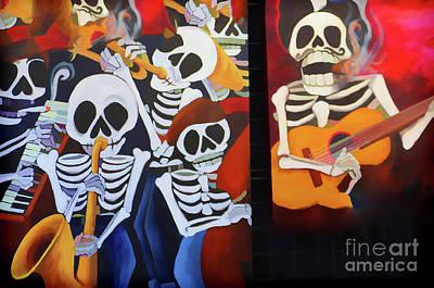 Dia De Los Muertos Photograph - Sax Guitar Music Day Of The Dead  by Chuck Kuhn