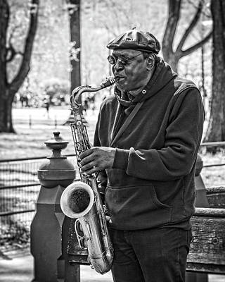 Photograph - Sax In The Park by Alan Raasch