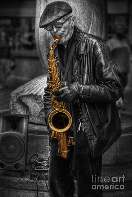 Photograph - Sax Love by Yhun Suarez