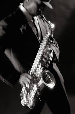Saxophone Photograph - Sax Man 1 by Tony Cordoza