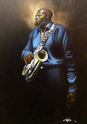 Painting - Sax Man by Jerome White