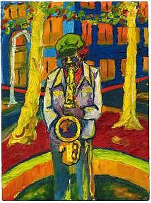 Print - Sax Man by Jim Marzano