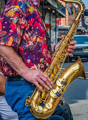 Saxophone Photograph - Sax Man by Steve Harrington