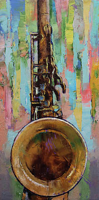 Musica Painting - Sax by Michael Creese