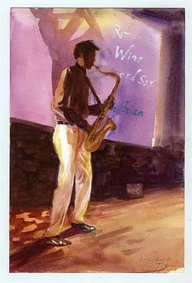 Sax Art Print
