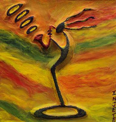 Mixed Media - Sax Player by Injete Chesoni