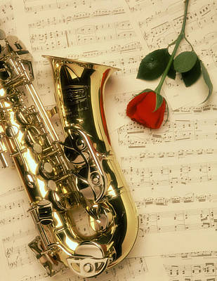 Photograph - Sax Romance by Gerard Fritz