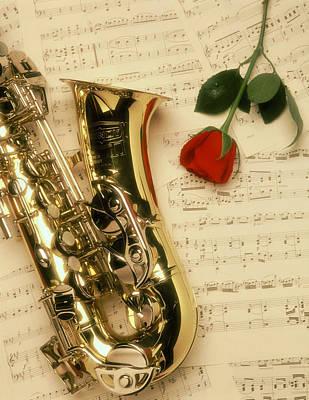 Sax Romance Art Print