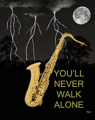 Sax Youll Never Walk Alone Art Print by Eric Kempson