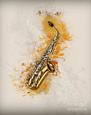 Digital Art - Saxaphone Art by Ian Mitchell