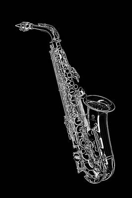 Digital Art - Saxaphone by PixBreak Art
