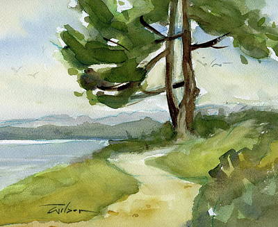 Painting - Saxe Point Tree by Ron Wilson