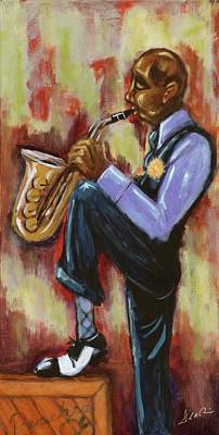Painting - Saxman by Daryl Price