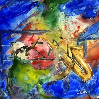 Donny Painting - Saxman by Don Seib