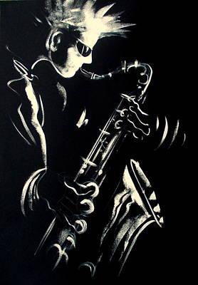 Saxophon Painting - Saxojazz1 by Philip Gaida