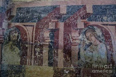 Photograph - Saxon Medieval Frescoes, Transylvania by Perry Rodriguez