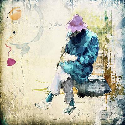 Saxophon Digital Art - Saxophon Player by Norbert Grill