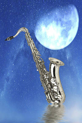 Digital Art - Saxophone by Angel Jesus De la Fuente