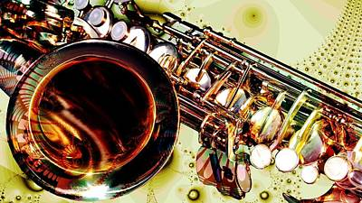 Digital Art - Saxophone Bell - Fantasy - Musical Instruments by Anastasiya Malakhova
