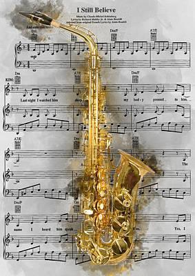 Miss. Saigon Painting - Saxophone Music 1 - By Diana Van by Diana Van