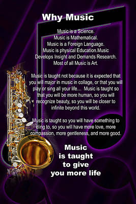 Photograph - Saxophone Photographs Or Pictures For T-shirts Why Music 4819.02 by M K Miller