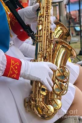 Saxophone Players Art Print by Yali Shi