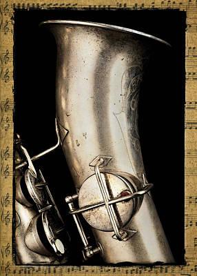Musical Photograph - Saxophone Profile by Patrick Chuprina