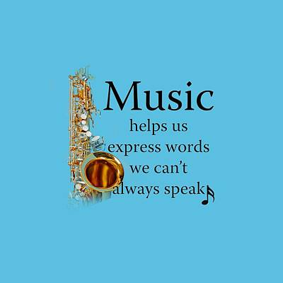 Saxophones Express Words Art Print