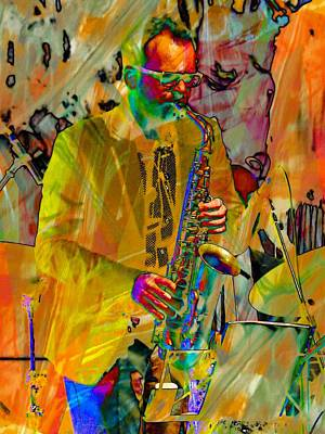 Saxophonist Art Print by Dorothy Berry-Lound