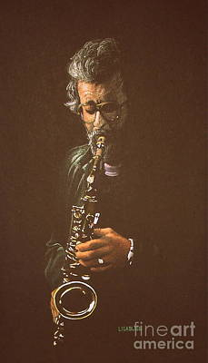 Painting - Saxophonist by Lisa Bliss Rush