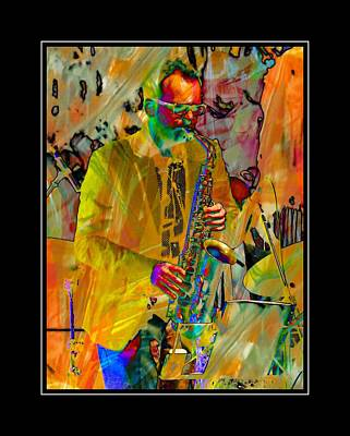 Photograph - Saxophonist With Black Border by Dorothy Berry-Lound