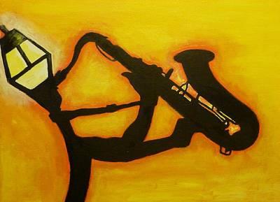 Gas Lamp Painting - Saxual Healing by Reuben Cheatem