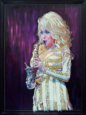 Painting - Saxy Dolly by Maria Modopoulos