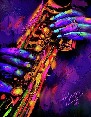 Painting - Saxy Hands by DC Langer