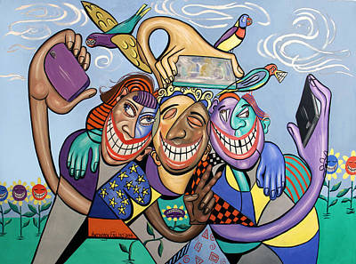 Say Cheese Selfie Art Print by Anthony Falbo
