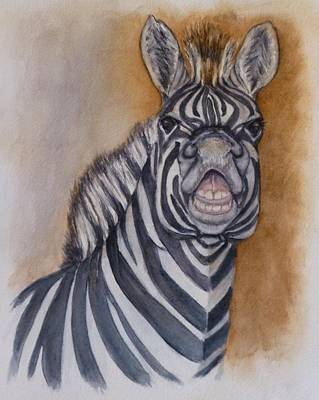 Painting - Say Cheese Zebra by Kelly Mills