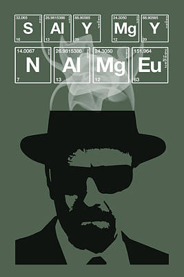 Painting - Say My Name - Breaking Bad Poster Walter White Quote by Beautify My Walls