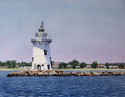 Saybrook Lighthouse Art Print