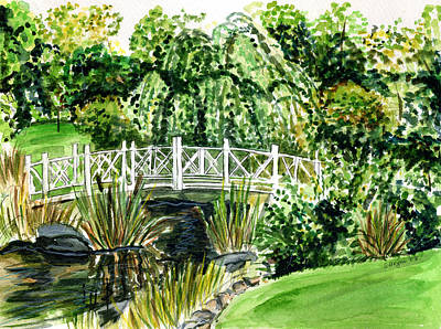 Painting - Sayen Bridge by Clara Sue Beym