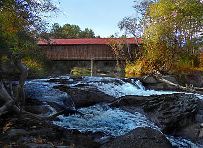 Photograph - Sayers Or Thetford Center Covered Bridge by Nancy Griswold