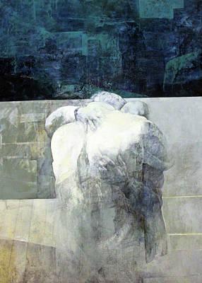 Separation Painting - Saying Goodbye by Munir Alawi