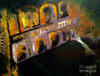 Aflame Painting - Saying Goodbye To What Once Was by Lisa Kaiser